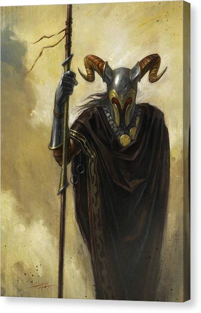 World Of Warcraft Canvas Print - Dark Mage by Alan Lathwell