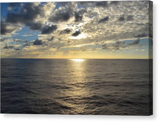 Dark Ocean Sunset 2 Canvas Print