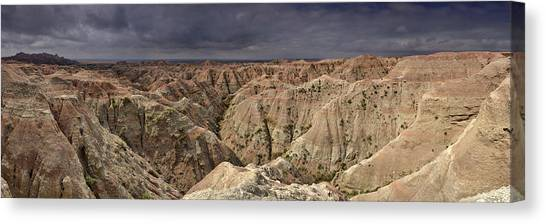 Dark Panorama Over The South Dakota Badlands Canvas Print