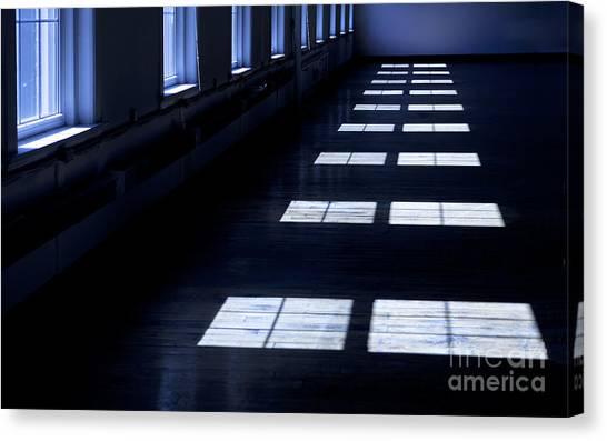 Warehouses Canvas Print - Dark Room With Windows by Diane Diederich