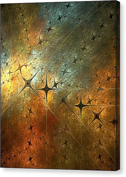 Dark Star Grid Canvas Print