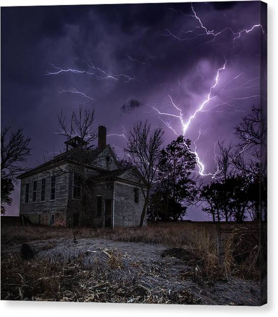 Dark Stormy Place Canvas Print
