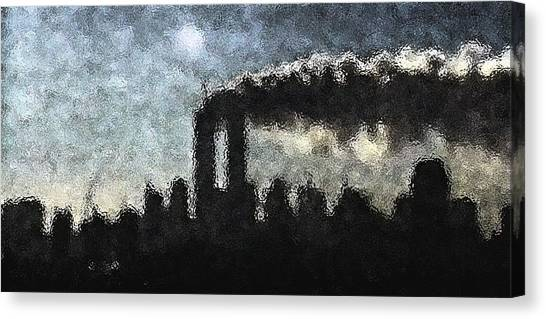 Dark Surreal Silhouette  Canvas Print