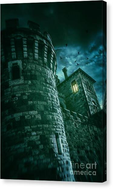 Fortification Canvas Print - Dark Tower by Carlos Caetano