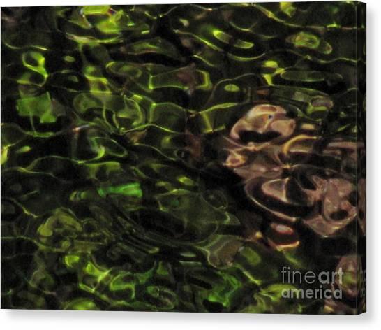 Dark Watery Green Canvas Print