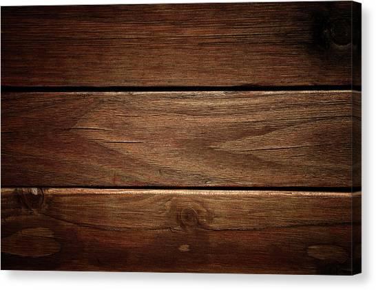 Dark Wood Texture Background Canvas Print