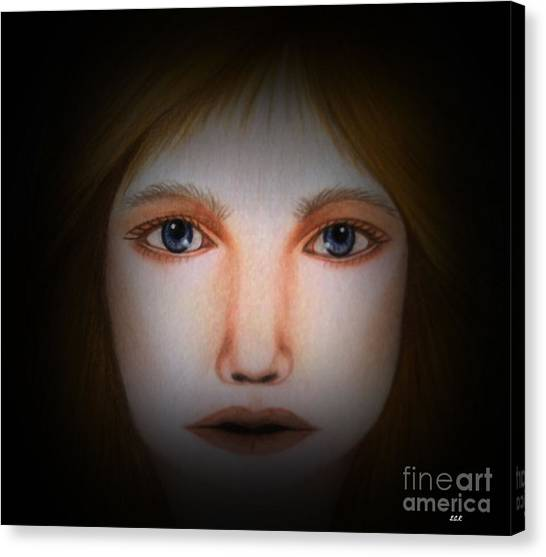 Darkness   Face Art By Saribelle Rodriguez Canvas Print by Saribelle Rodriguez
