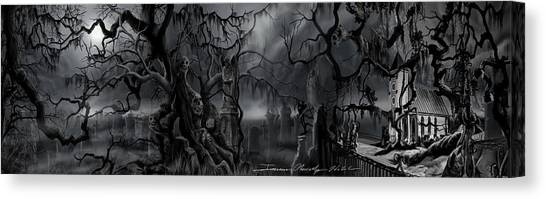 Darkness Has Crept In The Midnight Hour Canvas Print