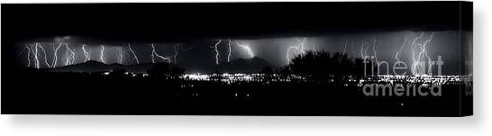 Darkness Symphony-15x72-signed Canvas Print