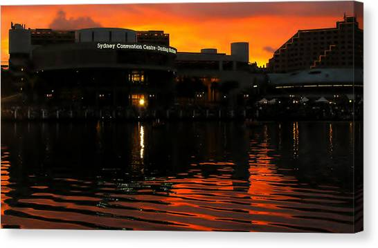 Darling Harbour Evening Canvas Print