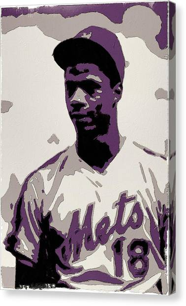 New York Mets Canvas Print - Darryl Strawberry Poster Art by Florian Rodarte