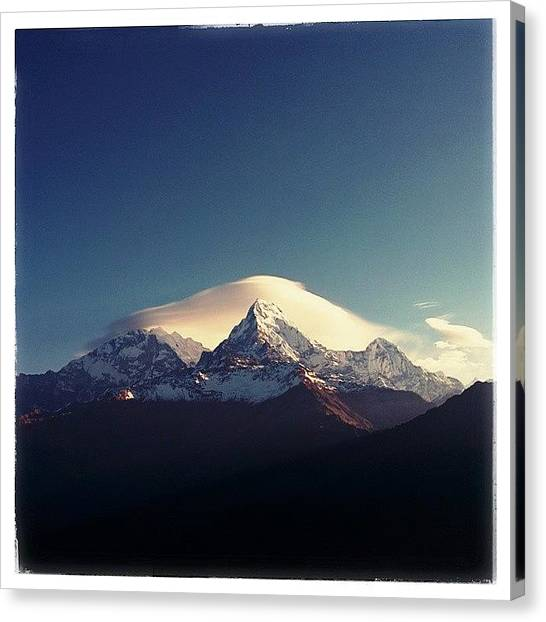 Beach Sunrises Canvas Print - #darshan #annapurna by Raimond Klavins