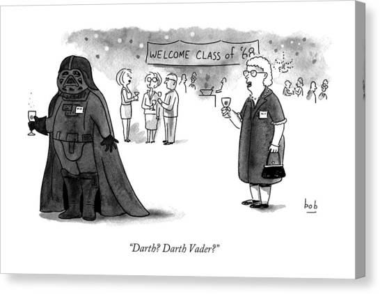High School Canvas Print - Darth? Darth Vader? by Bob Eckstein