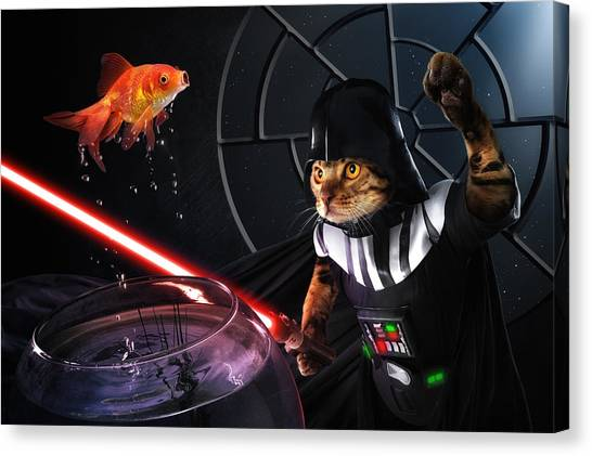 Goldfish Canvas Print - Darth Sushi by Christophe Kiciak