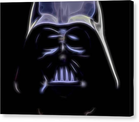 Leia Organa Canvas Print - Darth Vader by Dan Sproul