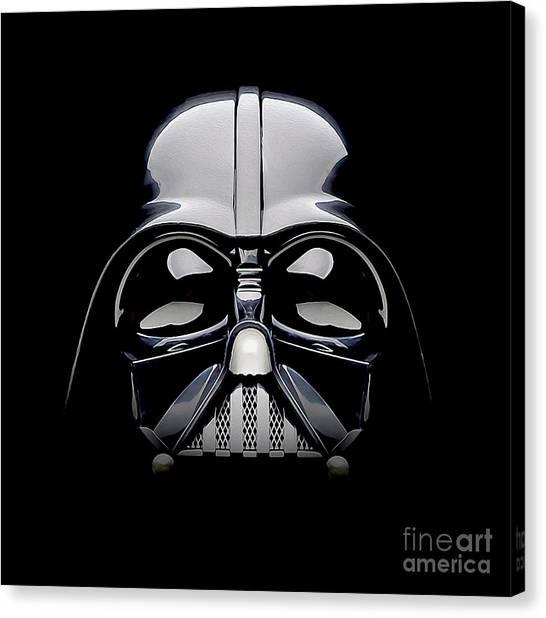 Darth Vader Canvas Print - Darth Vader Helmet by Jon Neidert