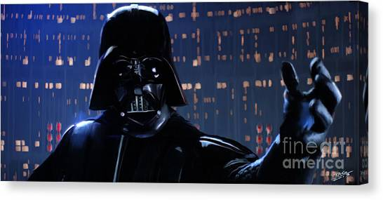 Jedi Canvas Print - Darth Vader by Paul Tagliamonte