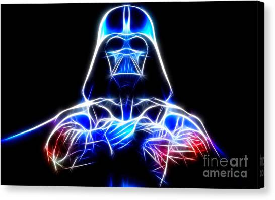 Darth Vader Canvas Print - Darth Vader - The Force Be With You by Pamela Johnson