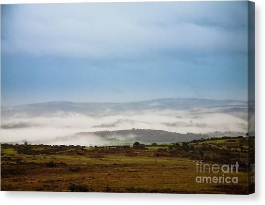 Moorland Canvas Print - Dartmoor Mist by Jan Bickerton