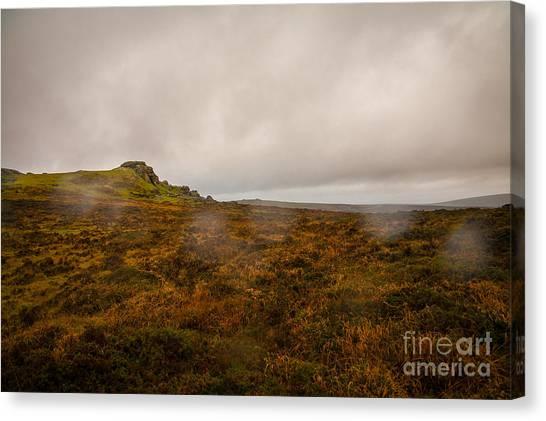 Moorland Canvas Print - Dartmoor Rain by Jan Bickerton