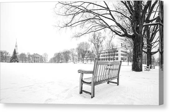 Dartmouth College Canvas Print - Dartmouth College Green In Winter by Edward Fielding