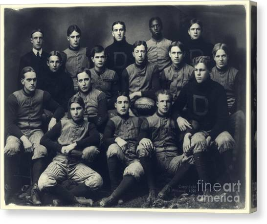 Dartmouth College Canvas Print - Dartmouth Football Team 1901 by Edward Fielding