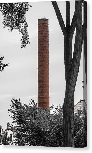 Dartmouth College Canvas Print - Dartmouth Smoke Stack by Sherman Perry