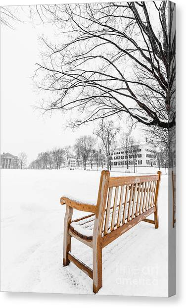 Dartmouth College Canvas Print - Dartmouth Winter Wonderland by Edward Fielding