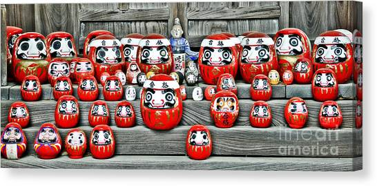 Good Luck Canvas Print - Daruma Dolls by Delphimages Photo Creations
