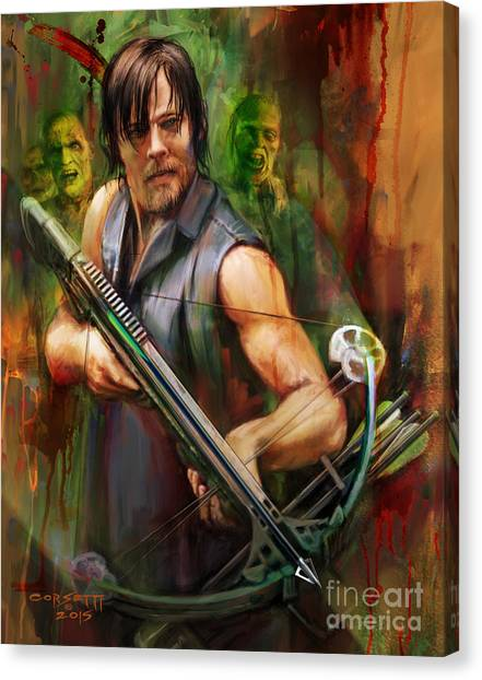 Daryl Dixon Walker Killer Canvas Print