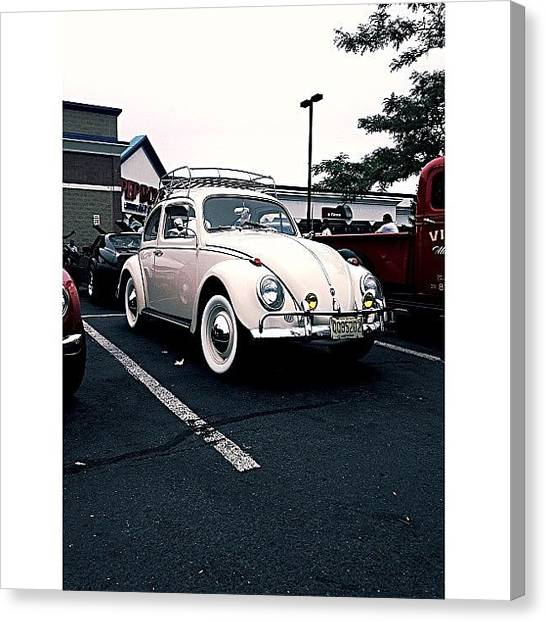 Beetles Canvas Print - Das Auto. #vintage #randomcarshow #vw by Lukasz Konior