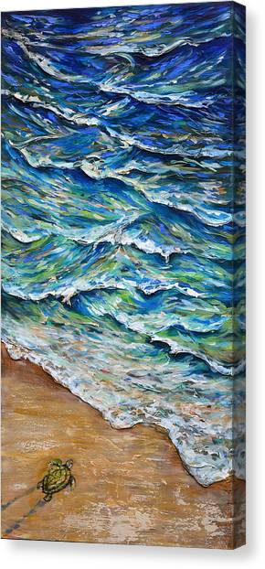 Dash To The Tide Canvas Print