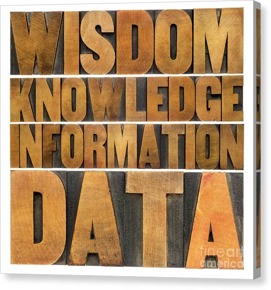 Data Information Knowledge And Wisdom Canvas Print