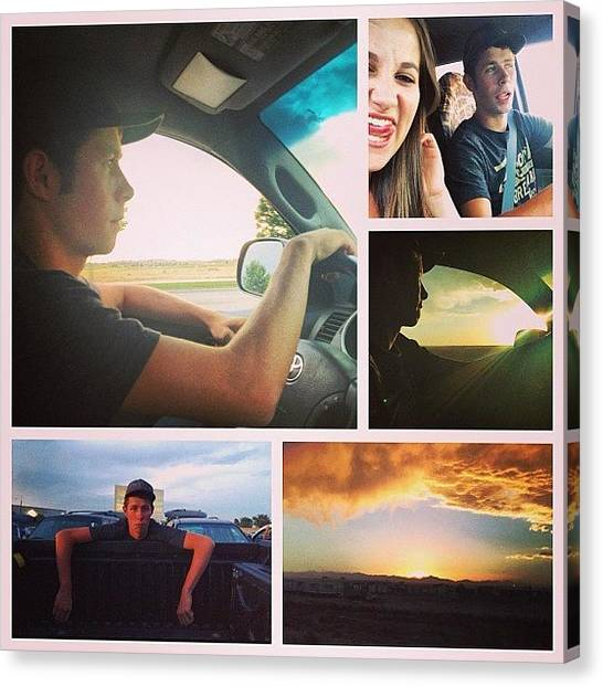Toyota Canvas Print - Date Night Last Night With @brady_cat by Ashley McAnarney