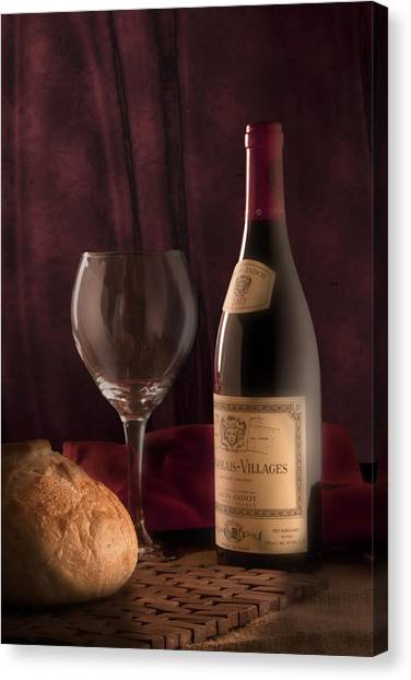 Wine Art Canvas Print - Date Night Still Life by Tom Mc Nemar