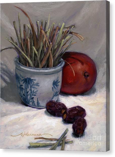 Dates Lemongrass And Mango Canvas Print