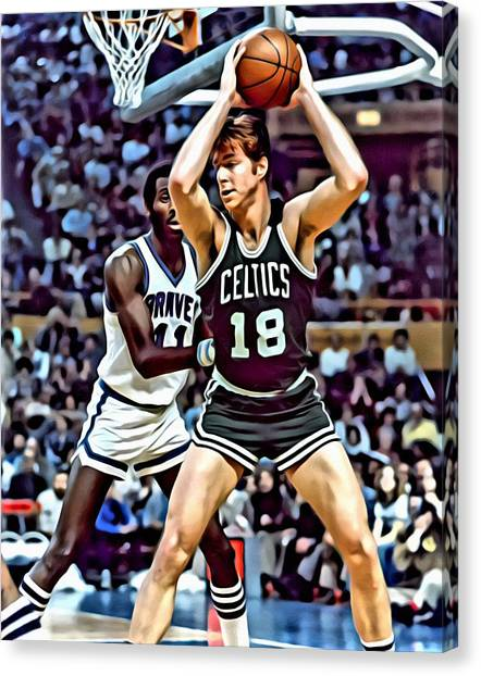 Milwaukee Bucks Canvas Print - Dave Cowens by Florian Rodarte