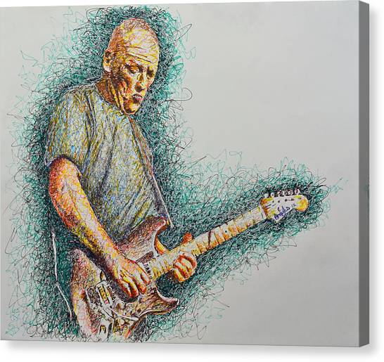 Dave Gilmour Canvas Print by Breyhs Swan