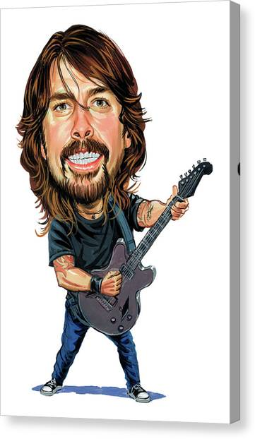 Rocker Canvas Print - Dave Grohl by Art