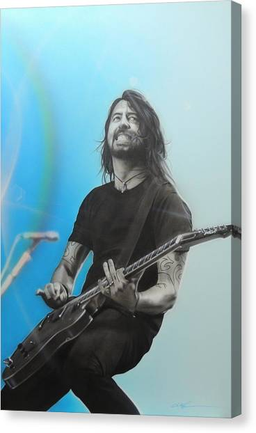 Nirvana Canvas Print - Dave Grohl by Christian Chapman Art