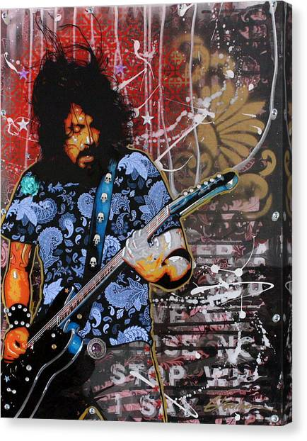 Nirvana Canvas Print - Dave Grohl by Gary Kroman