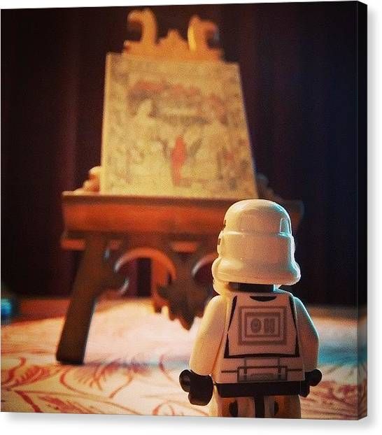 Stormtrooper Canvas Print - #dave Is Taking In The #arts by Leon Deakin