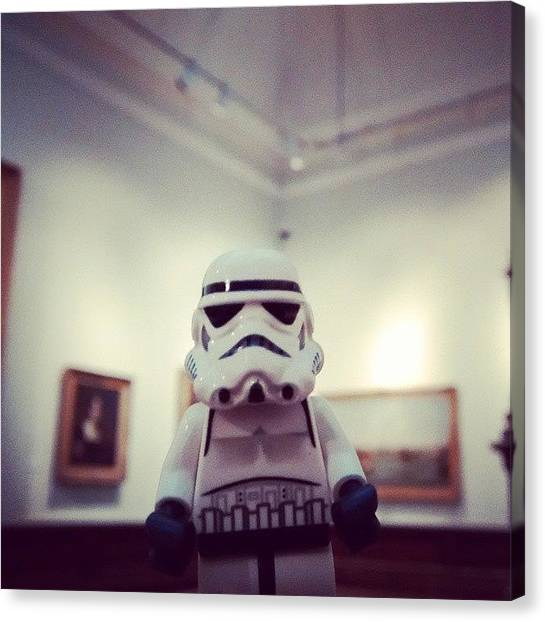 Stormtrooper Canvas Print - #dave Loves A Bit Of #modern by Leon Deakin