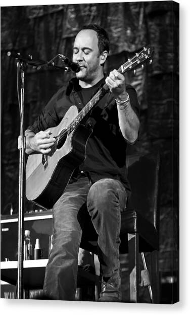 Dave Matthews On Guitar 9  Canvas Print by Jennifer Rondinelli Reilly - Fine Art Photography