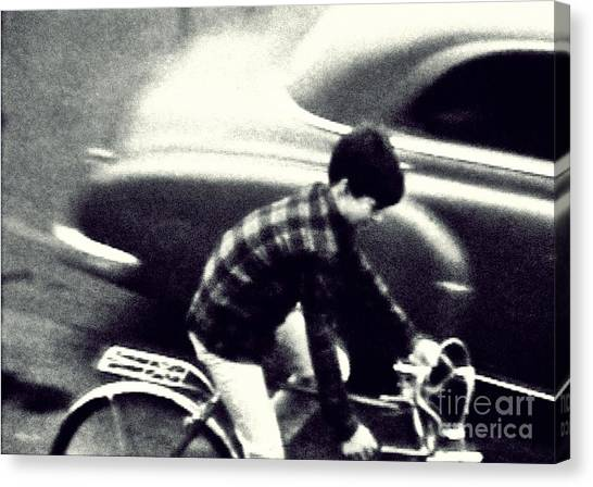 Dave On A Bike Canvas Print