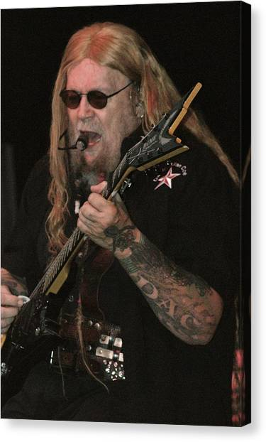 David Allan Coe Canvas Print by Joe Bledsoe