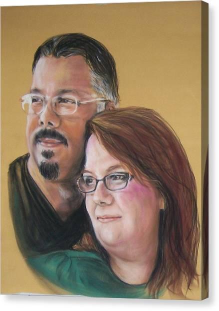 David And Laura Canvas Print
