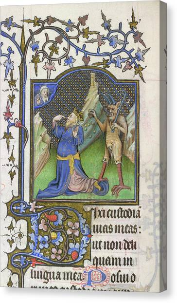 Satan Canvas Print - David And The Devil by British Library