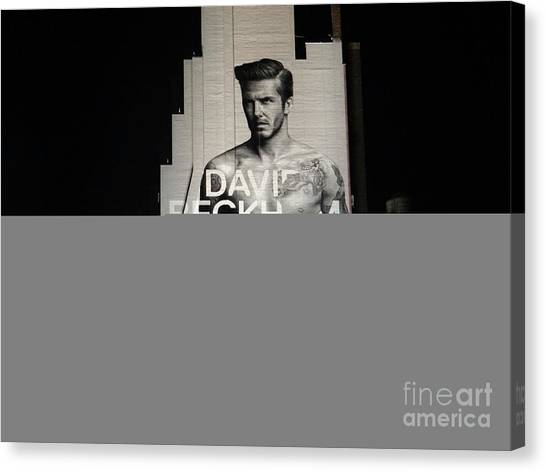 David Beckham Canvas Print - David At Night by Ed Weidman