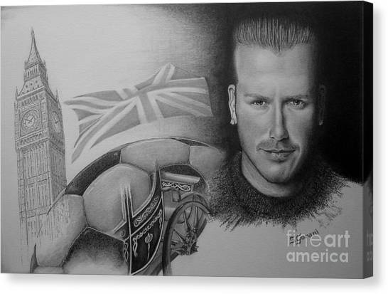 David Beckham Canvas Print - David Beckham by Geni Gorani
